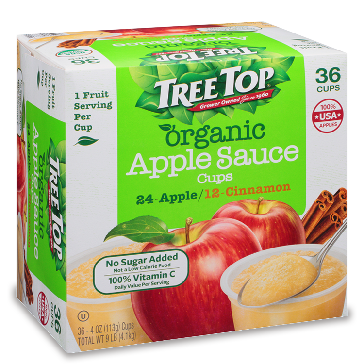 Organic Apple Sauce Variety Cups 36 Pack