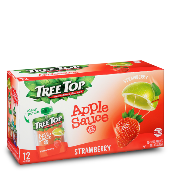 Tree Top Strawberry Apple Sauce Pouch 12 Pack