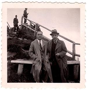 Carl Weisbrod and Dr. Schoop