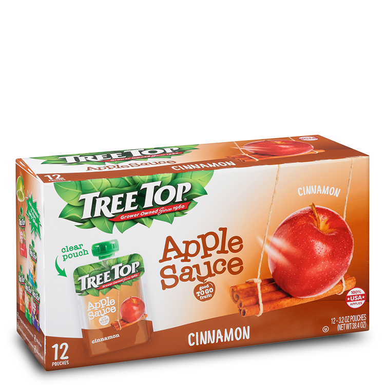 Tree Top Cinnamon Apple Sauce Pouch 4 Pack (3.2oz) Tree Top Cinnamon Apple Sauce Pouch 12 Pack