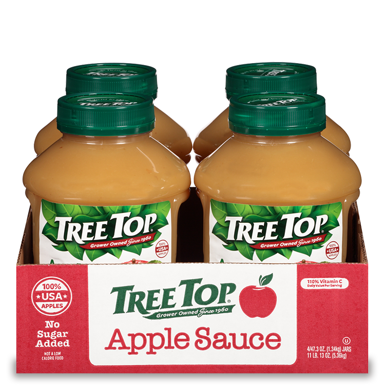 No Sugar Added Apple Sauce Jars 4 pack