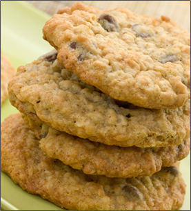 Reduced Fat Oatmeal Cookies