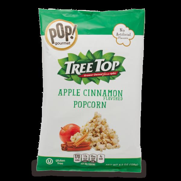 POP! Gourmet + Tree Top Apple Cinnamon Flavored Popcorn