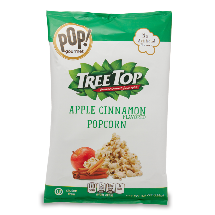 POP! Gourmet + Tree Top Apple Cinnamon Flavored Popcorn