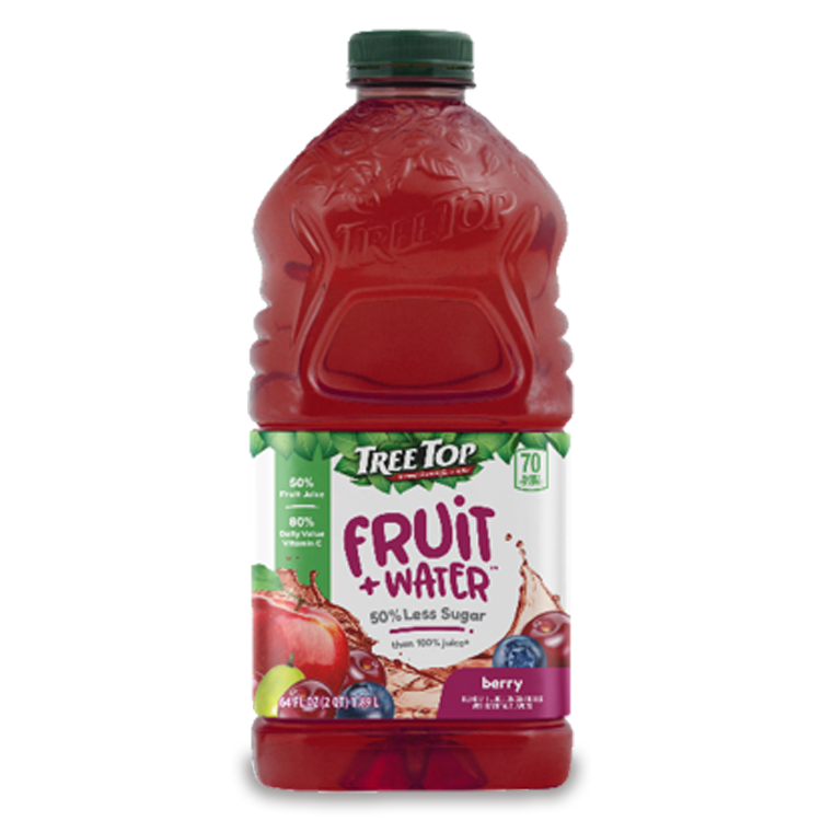 Fruit + Water 64oz Berry