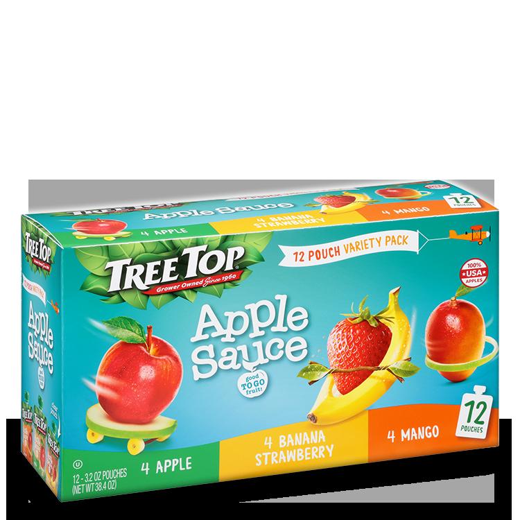 Tree Top Apple Banana Strawberry Mango